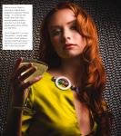 Jacquelyn Brooks Chartreuse Silk Dress