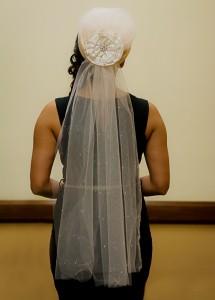 hat veil back